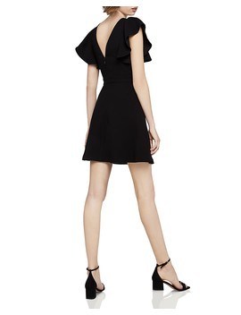 Ruffle Sleeve Fit And Flare Dress by Bcb Generation