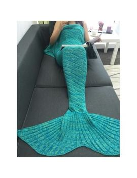 Slim Hollow Out Crochet Knit Mermaid Blanket by Dress Lily