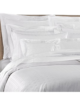 Bellino Fine Linens® Viennese Netting Jacquard Queen Duvet Cover In White by Bed Bath And Beyond