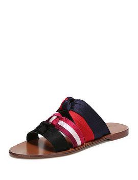 Bree Knotted Flat Slide Sandal by Diane Von Furstenberg