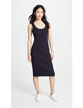 Ribbed Tank Dress by Vince
