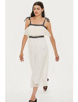 Polka Dot Strappy Midi Dress by Topshop