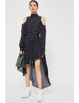 Dotty Asymetric Dress By Style Mafia by Topshop