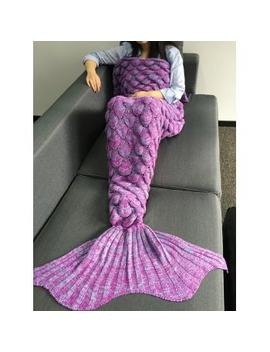 Warmth Crochet Knitting Fish Scales Design Mermaid Tail Style Blanket by Dress Lily