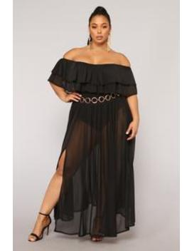 Don't Mesh With Her Dress   Black by Fashion Nova