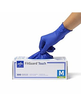 Medline Fit Guard Touch Nitrile Exam Gloves, Disposable, Powder Free, Cobalt Blue, X Large, Box Of 250 by Medline