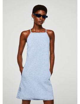 Halter Neck Denim Dress by Mango