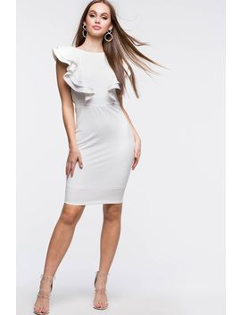 Ruffle Galore Sheath Dress by A'gaci