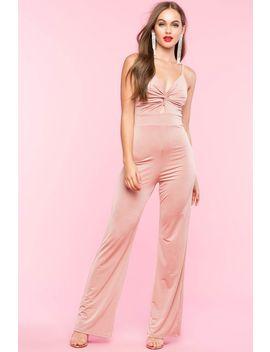 Pure Luxury Cutout Jumpsuit by A'gaci