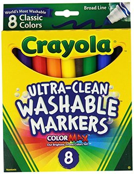 Crayola Broad Point Washable Markers   Pack Of 2 (58 7808 2 Pack) by Crayola