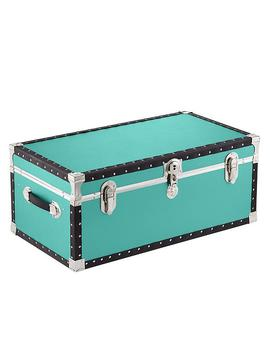 Aqua Rolling Trunk With Tray by Container Store