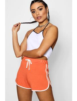 Cat Contrast Trim Runner Shorts by Boohoo