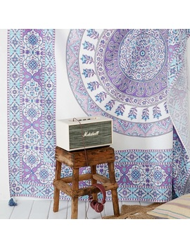 Nwt Urban Outfitters Tapestry Purple, Ivory, &Blue   Nwt by Urban Outfitters