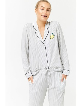 Striped Pyjama Set by Forever 21