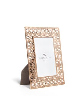 4x6 Filigree Photo Frame In Rose Gold by Kendra Scott