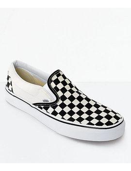Vans Slip On Black &Amp; White Checkered Skate Shoes by Vans