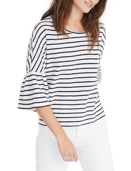 Stripe Flare Sleeve Tee by Madewell