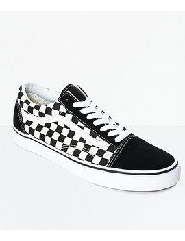 Vans Old Skool Black &Amp; White Checkered Skate Shoes by Vans