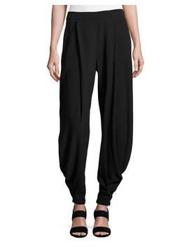 Kersten Draped Harem Pants, Black by Ralph Lauren Collection