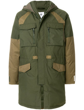 Padded Two Tone Parkahome Men Clothing Parka & Duffle Coats by Adidas By White Mountaineering