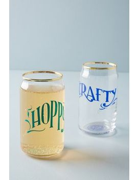 Gilded Beer Glass by Anthropologie