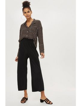 Petite Plisse Trousers by Topshop