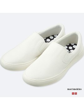 Women Marimekko Canvas Sneakers by Uniqlo