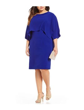 Plus Blouson Sheath Dress by Adrianna Papell