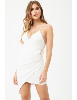 Ribbed Asymmetrical Hem Dress by Forever 21
