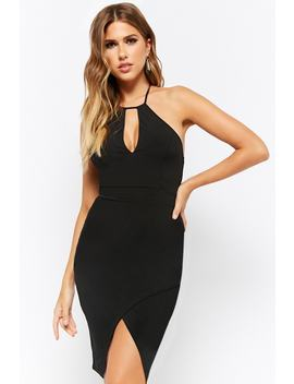 Crisscross Back Tulip Bodycon Dress by Forever 21