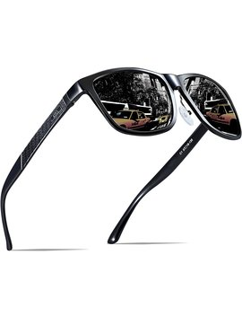 Attcl Men's Wayfarer Driving Polarized Sunglasses Al Mg Metal Frame Ultra Light by Amazon