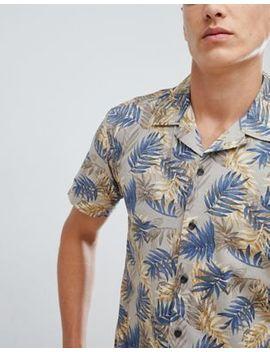 Jack & Jones Originals Short Sleeve Shirt With Revere Collar And Print by Jack & Jones