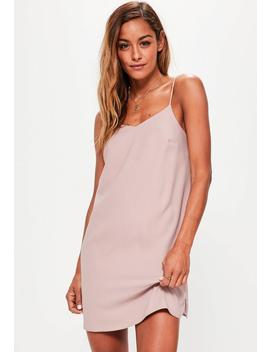 Petite Pink Crepe Shift Dress by Missguided