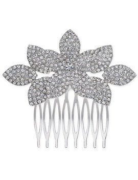 I.N.C. Silver Tone Pavé Hair Comb, Created For Macy's by Inc International Concepts