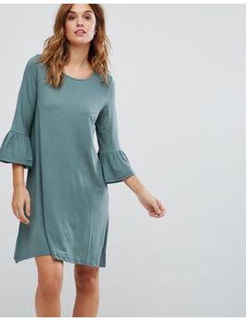 Vero Moda Shift Dress With Fluted Sleeve by Vero Moda