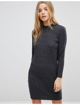 Jdy High Neck Ribbed Dress by Jdy