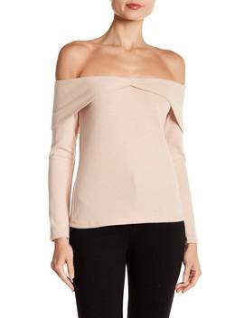 Skylar Off The Shoulder Foldover Blouse by Nytt
