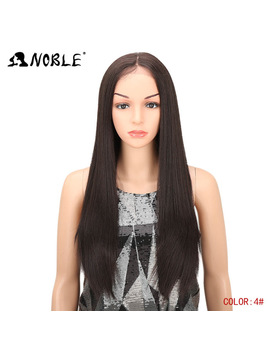 Noble Lace Front Wig 28 Inch Long Straight Black Red Ombre Blonde African American Synthetic Lace Front And T Part Wig For Women by Noble