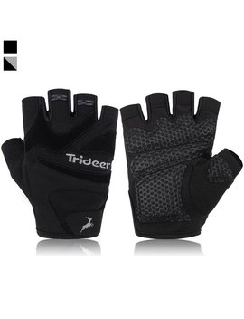 Trideer Flexible Gym Gloves With Anti Slip 3 Piece Silica Gel Grip & Adjustable Fasteners, Ultralight Weight Lifting Gloves For Workout, Fitness, Cross Training (Men & Women) by Amazon