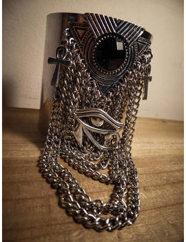 "Silver Cuff Egyptian Chains ""Queen Of The Damned"" by Etsy"