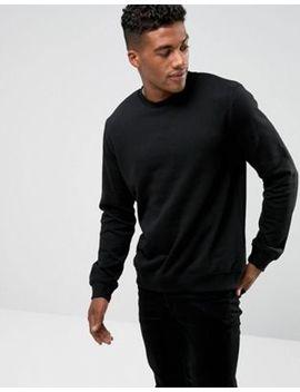 Черный свитшот с круглым вырезом New Look by Asos