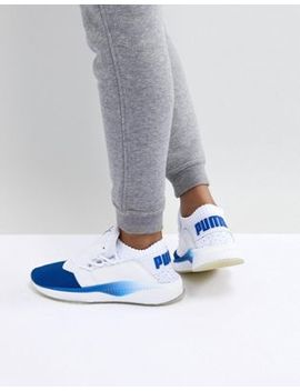 Puma Tsugi Shinsei Sneaker In Blue And White by Puma