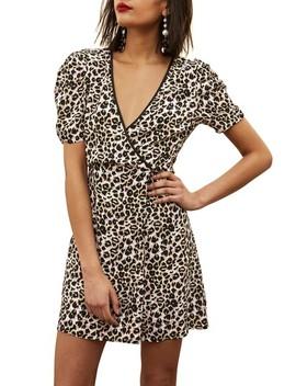 Leopard Wrap Minidress by Topshop