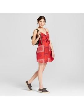 Women's Tie Front Shift Dress   Xhilaration™ Bandana Red by Xhilaration™