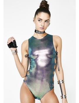 Galactic Tantric Hologram Bodysuit by Roma