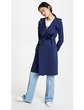 Round Neck Trench Coat by Harris Wharf London