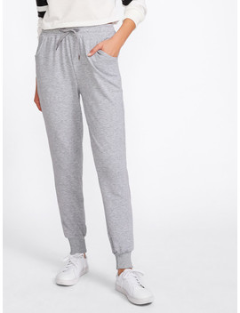 Marled Track Pants by Sheinside