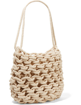 Woven Cotton Shoulder Bag by Alienina