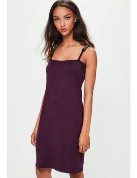 Londunn + Missguided Purple Square Neck Bodycon Dress by Missguided