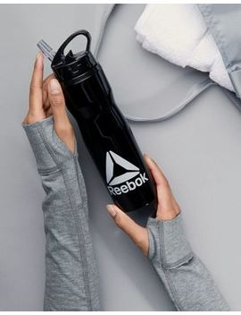 Reebok Logo Waterbottle In Black by Reebok